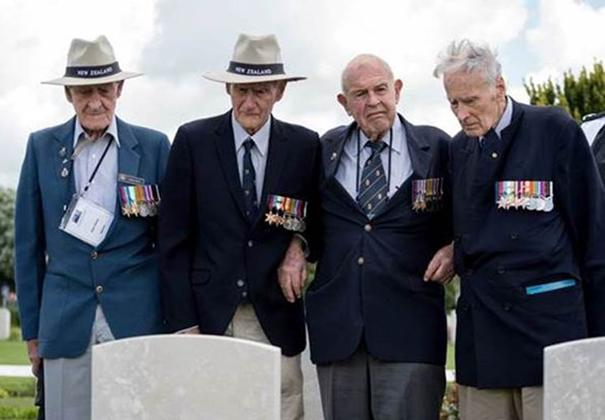 Pen (on right in photo) at the war graves Bayeaux